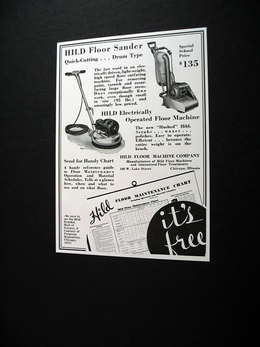 ... HILD Floor Sander Amp Floor Machine 1933 Print