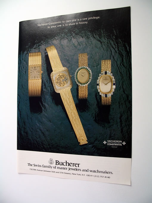 Bucherer Vacheron Constantin Watch Watches Print Ad