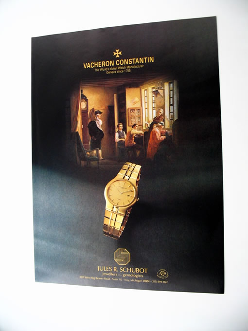 Vacheron Constantin Watch Watches 1989 Print Ad