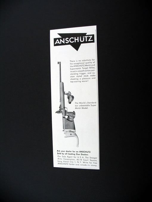 Anschutz Super Match Model Target Rifle 1961 print Ad on PopScreen