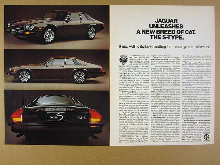 1976 JAGUAR XJ-S Vintage Original Print AD Brown S-Type car coupe photo USA