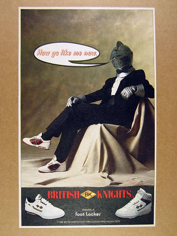 1988 British Knights Bk Shoes Knight Armor Helmet Tuxedo Photo