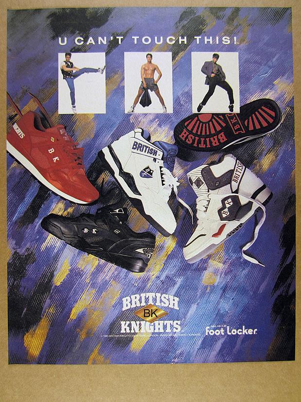 blue black shoes photo vintage print Ad