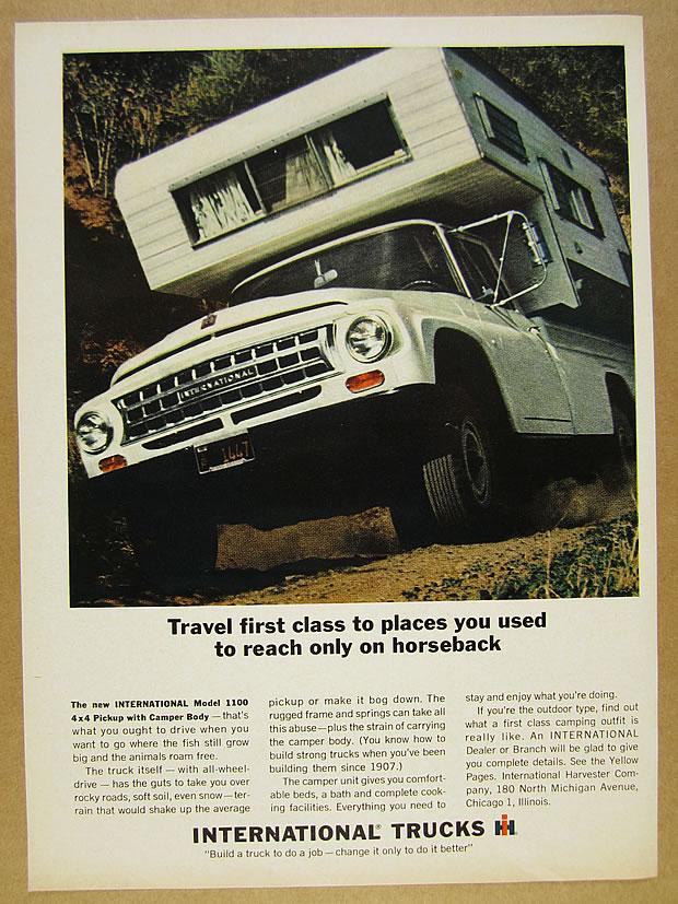 Details about 1964 IH International 1100 4x4 Pickup Truck Camper Body photo  vintage print Ad