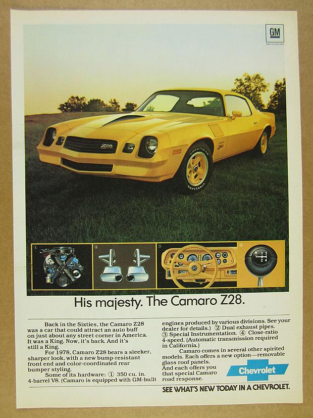 Classic Vintage Advertisement Car Ad J15 1984 Chevrolet Camaro Z28 Chevy