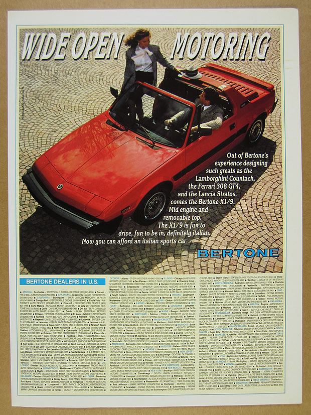 1987 Zimmer Golden Spirit Coupe Original Car Advertisement Print Ad J258
