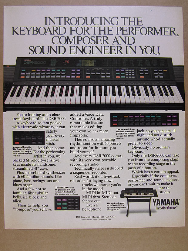 Yamaha Dsr Synthesizer Keyboard