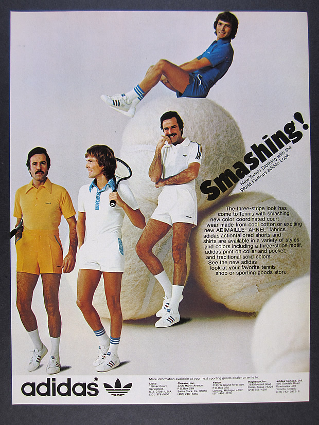 1975 Adidas Tennis Shoes Shirts Shorts Clothing Photo Vintage Print Ad Ebay