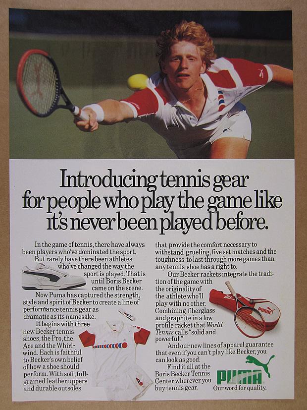 Puma BORIS BECKER Tennis High Top Sneaker Schwarz