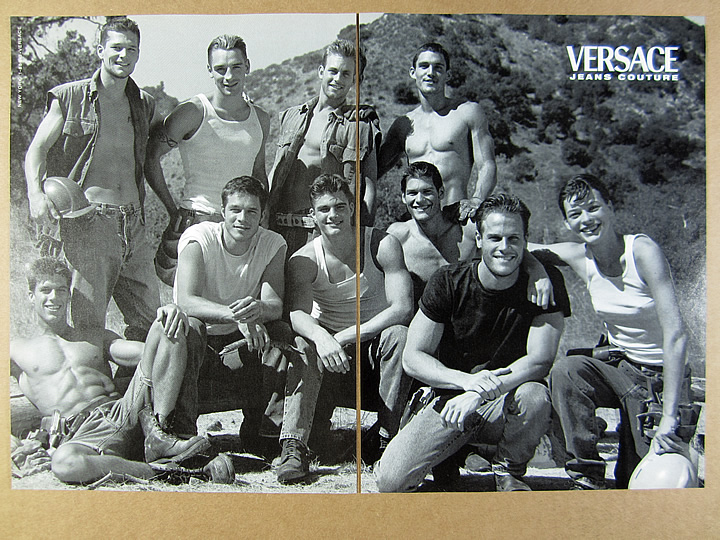1995 Gianni Versace Jeans Couture Men/'s Fashion Photo Vintage Print Promo AD
