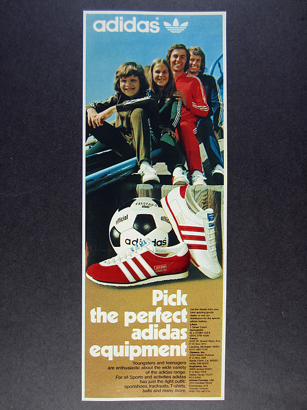 Details about 1974 Adidas Varsity & Vienna Shoes telstar football tracksuits photo vintage Ad