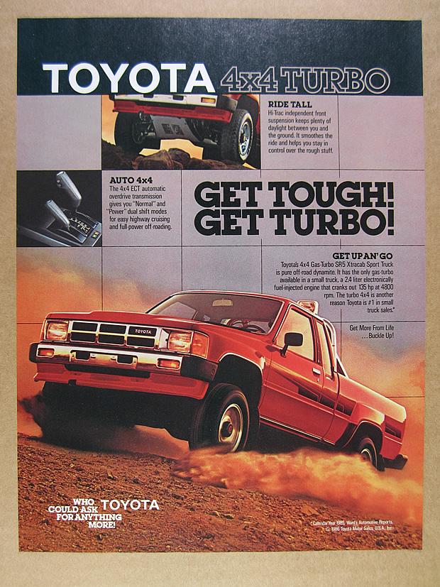 "1986 Toyota 4x4 Turbo SR5 Truck Original Print Ad 9 x 11/"" Playboy Magazine 80s"