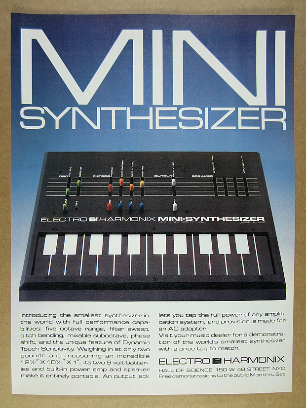 Details about 1980 Electro Harmonix EH-0400 Mini-Synth Synthesizer vintage  print Ad